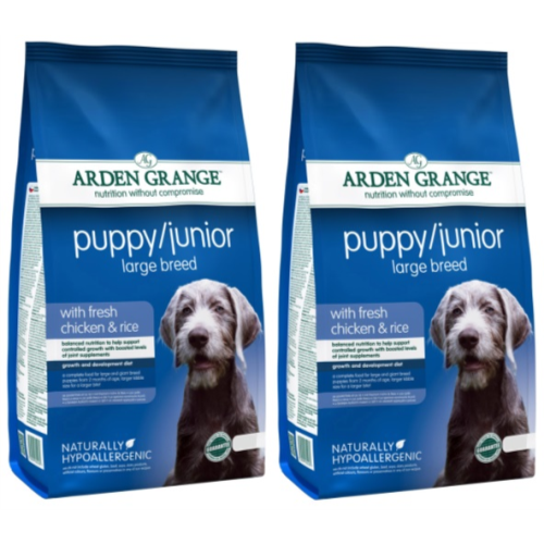 Arden Grange Chicken & Rice Large Breed Puppy Food 12kg x 2