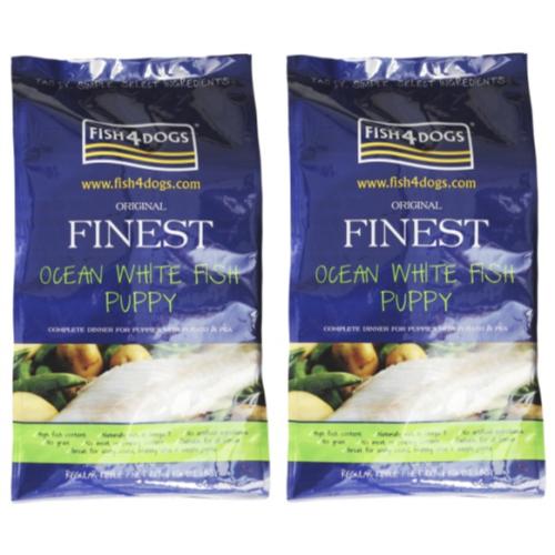 Fish4Dogs Finest Regular Bite Puppy Food 12kg x 2