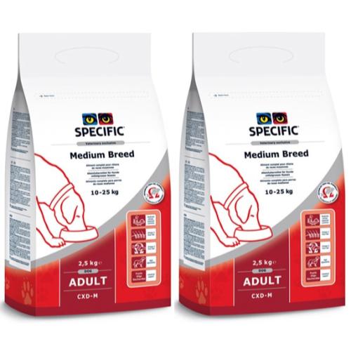 Specific CXD-M Adult Medium Breed Dog Food 12kg x 2