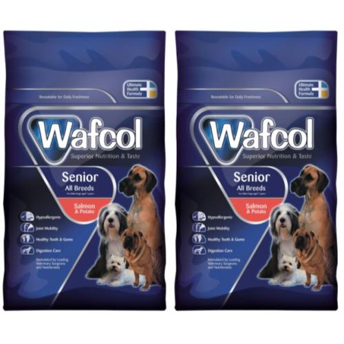 Wafcol Salmon & Potato Senior Dog Food 12kg x 2