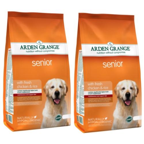 Arden Grange Chicken & Rice Senior Dog Food 12kg x 2
