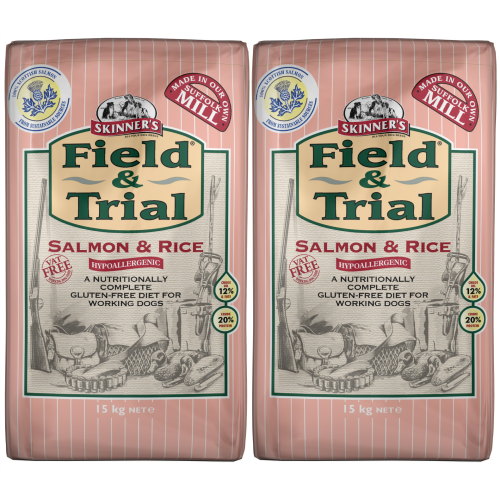 Skinners Field & Trial Salmon & Rice Adult Dog Food 15kg x 2