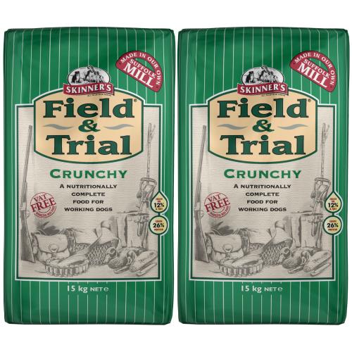 Skinners Field & Trial Crunchy Adult Dog Food 15kg x 2