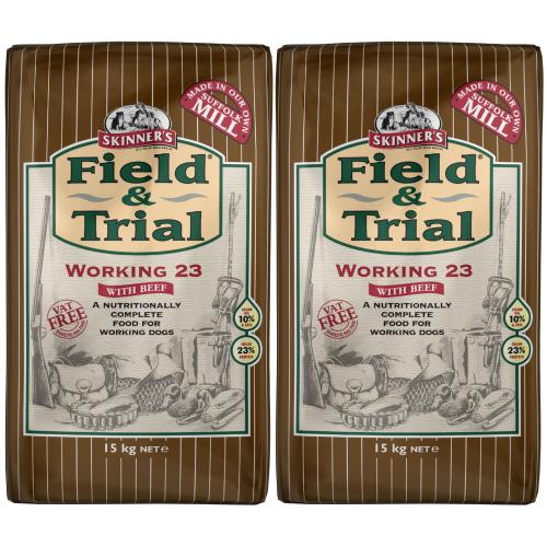 Skinners Field & Trial Working 23 Adult Dog Food 15kg x 2