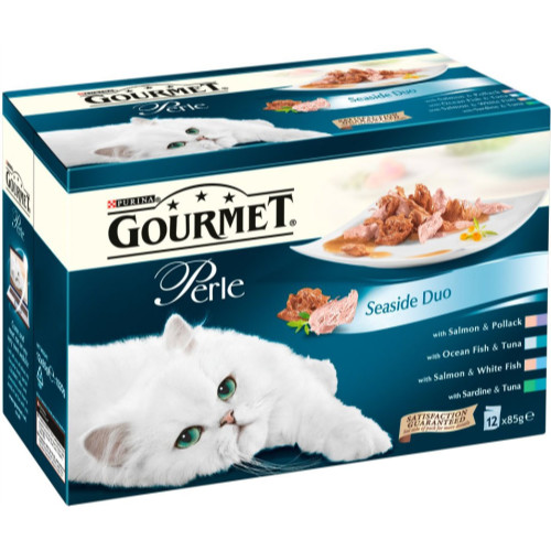 Gourmet Perle Pouch Seaside Duo Cat Food