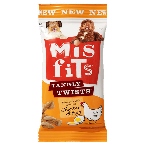 Misfits Tangly Twists Chicken & Egg Dog Treats