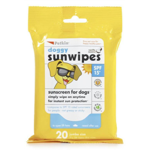 Petkin Dog Sunscreen Sun Wipes