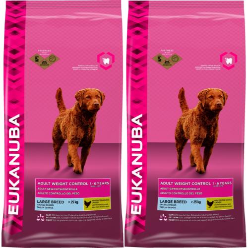 Eukanuba Weight Control Large Breed Adult Dog Food 12kg x 2