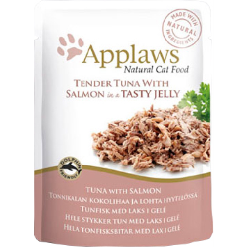 Applaws Tuna with Salmon In Jelly Pouch Adult Cat Food 70g x 48