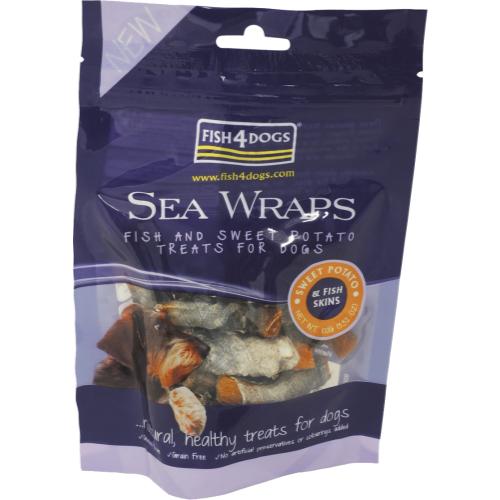 Fish4Dogs Sweet Potato Sea Wraps Dog Treats 100g