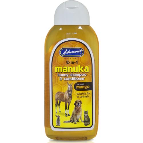 Johnsons Dog, Cat & Small Animal Manuka Honey Shampoo & Conditioner 200ml