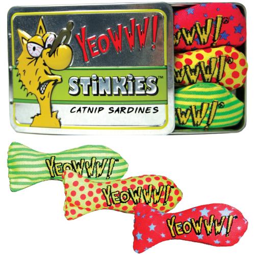 Yeowww Catnip Cat Toy Stinkies 3 Stinkies Sardine Tin