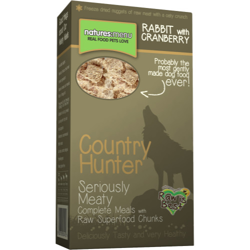 Natures Menu Country Hunter Rabbit & Cranberry Superfood Crunch Adult Dog Food