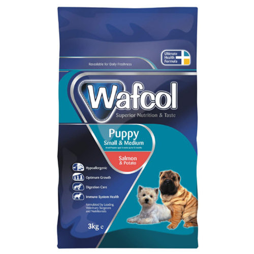 Wafcol Salmon & Potato Small & Medium Puppy Food 2.5kg x 3