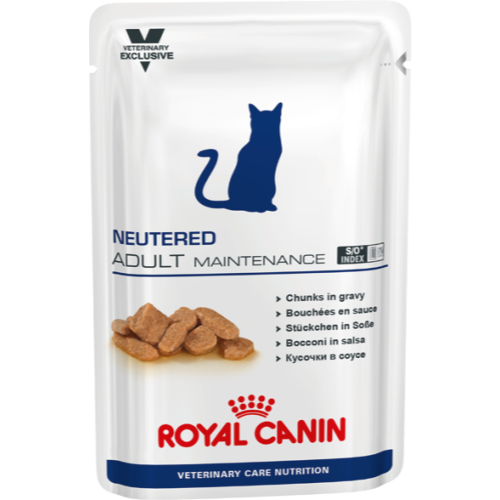 Royal Canin VCN Neutered Adult Maintenance Pouches Cat Food 100g x 12