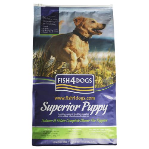 Fish4dogs Superior Salmon Regular Bite Puppy Food 12kg x 2