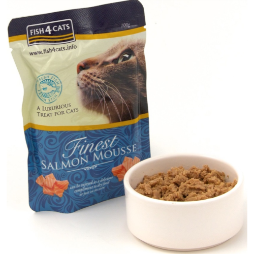 Fish4Cats Finest Salmon Mousse Cat Food 100g x 42