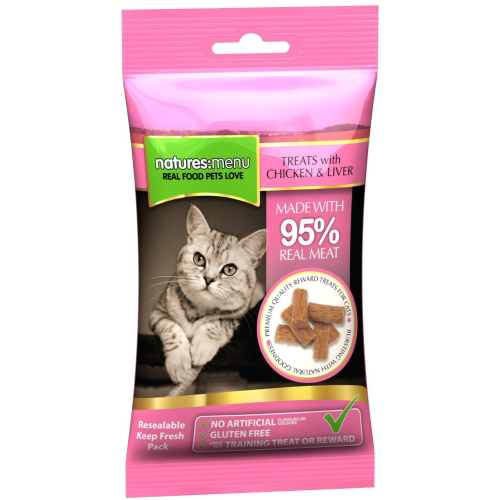 Natures Menu Cat & Kitten Treats 60g Chicken & Liver