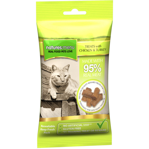 Natures Menu Cat & Kitten Treats 60g Chicken & Turkey