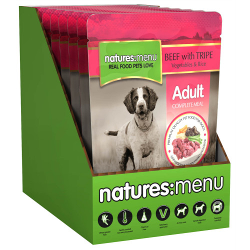 Natures Menu Original Beef & Tripe Adult Dog Food Pouches