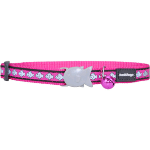 Red Dingo Cat Collar Reflective Fish