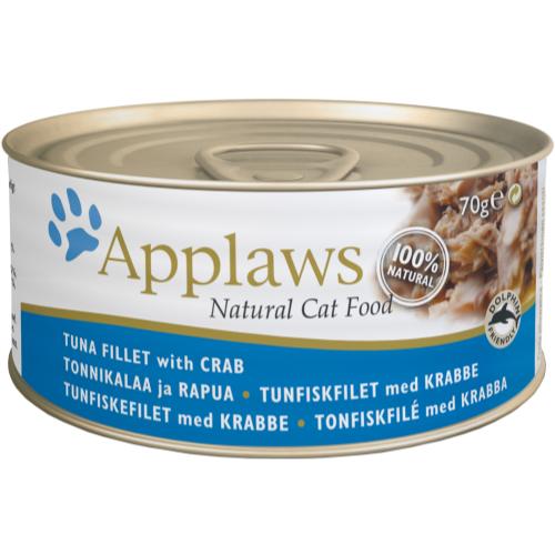 Applaws Fishy Tins Wet Cat Food 70g x 6 - Tuna with Crab