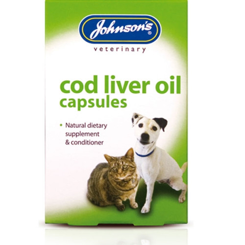 Johnsons Veterinary Dog and Cat Supplements Cod Liver Oil Capsules