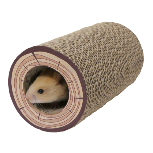Rosewood Shred A Log Corrugated Tunnel Toy 18cm x 9.5cm