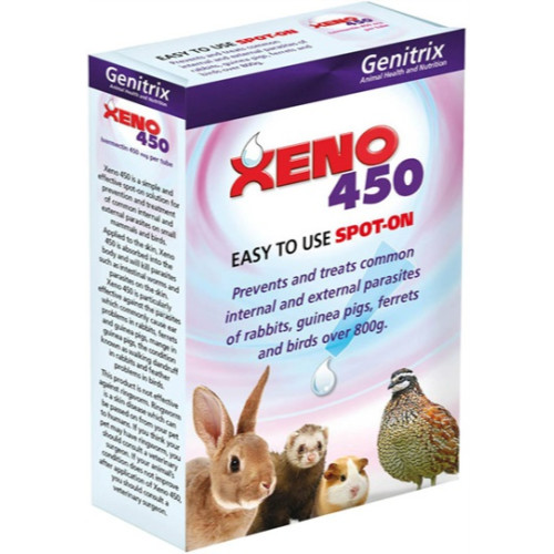 Xeno 450 spot on for rabbits, guinea pigs, ferrets (6 pack).