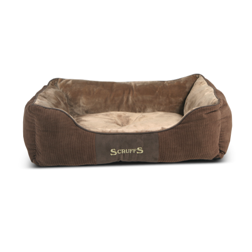 Scruffs Chester Box Dog Bed in Chocolate Chester Dog Bed