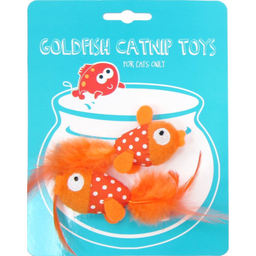 Happy Goldfish Catnip Toy