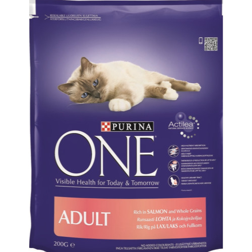 Purina ONE Salmon & Whole Grains Adult Cat Food
