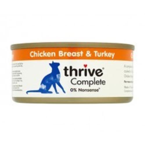 Thrive Complete 100% Chicken & Turkey Adult Cat Food 75g x 12