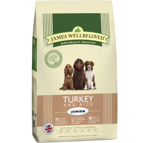 James Wellbeloved Turkey & Rice Junior Dog Food