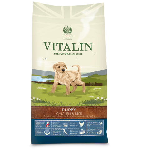 Vitalin Natural Chicken & Rice Puppy Food