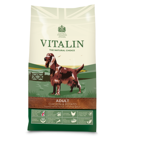 Vitalin Natural Chicken & Potato Adult Dog Food 12kg x 2