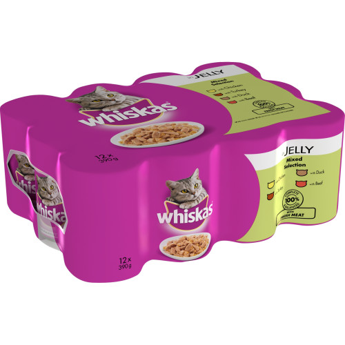 Whiskas Can Mixed Selection in jelly Adult Cat Food