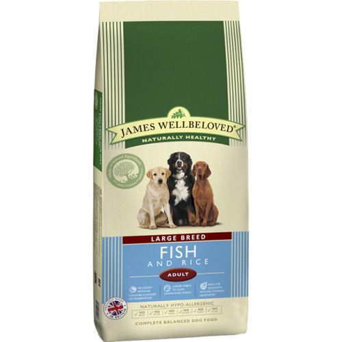 James Wellbeloved Ocean Fish & Rice Adult Large Dog Food 15kg