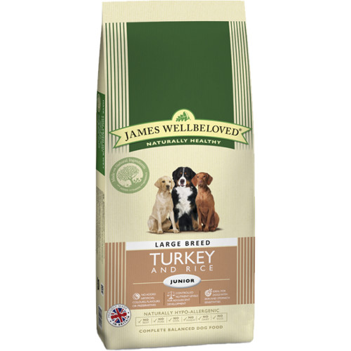 James Wellbeloved Turkey & Rice Junior Large Breed Dog Food