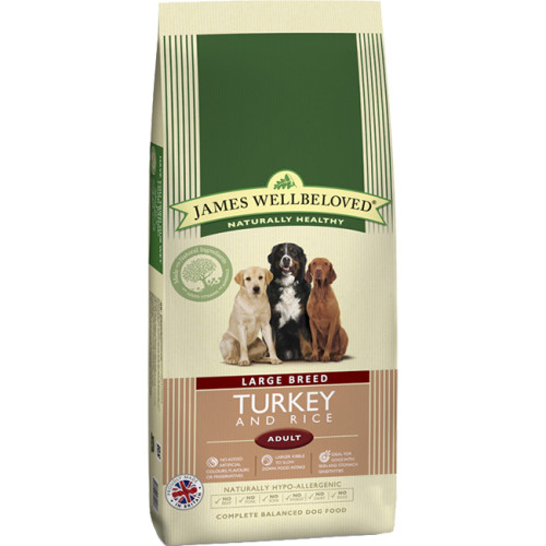 James Wellbeloved Turkey & Rice Adult Large Breed Dog Food