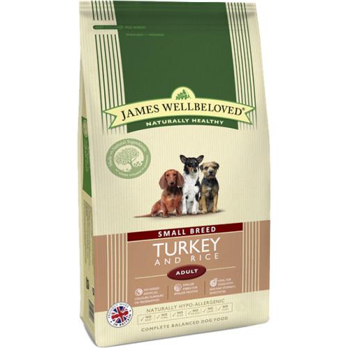 James Wellbeloved Turkey & Rice Adult Small Breed Dog Food 1.5kg