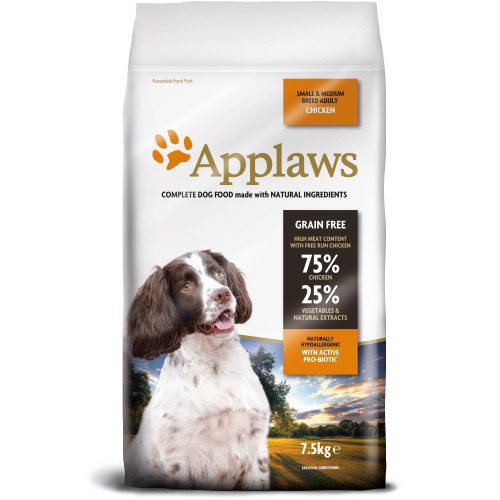 Applaws Chicken Small & Medium Breed Dry Adult Dog Food 7.5kg