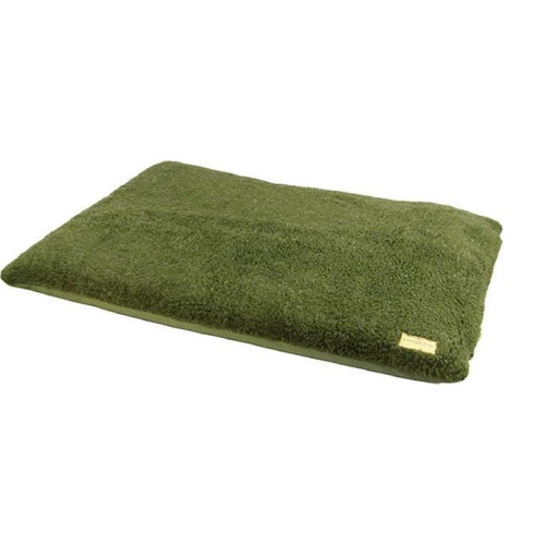 Earthbound Removable Waterproof Sherpa Dog Cage Green Mat