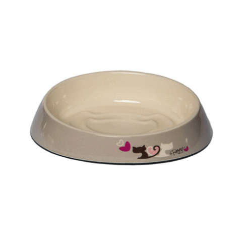 Rogz Fishcake Grey & Heart Tails Cat Bowl