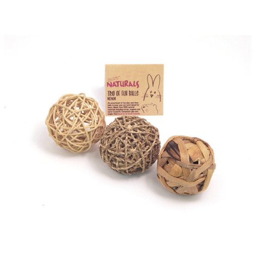 Rosewood Naturals Trio Of Fun Balls Medium