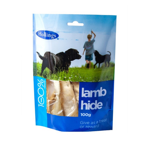 Hollings Lamb Hide Dog Treat