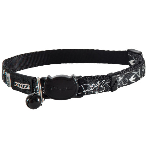 Rogz Catz Black Silky Cat Collar