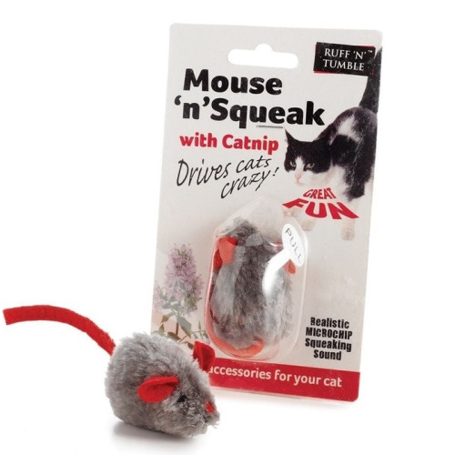 Sharples Pet Mouse n Squeak Catnip Cat Toy