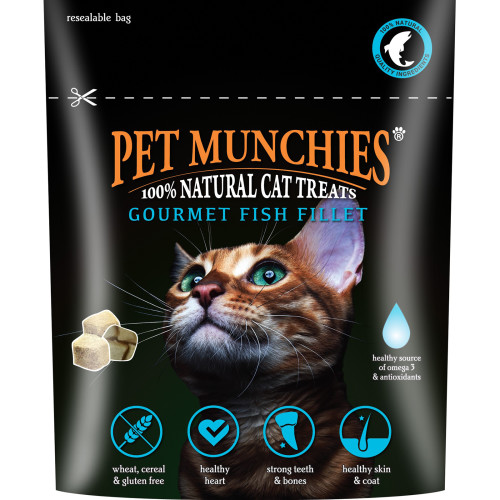 Pet Munchies Natural Cat Treats 10g - Fish Fillet