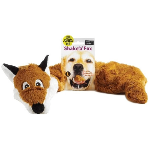 Sharples Pet Shake a Fox Dog Toy